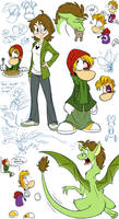 Gwee Meets Rayman doodle page - The Sequel by EarthGwee