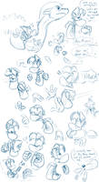 Gwee Meets Rayman doodles - part 8 by EarthGwee