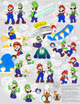 More Luigi's Little Ghost doods by EarthGwee