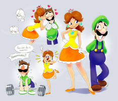 Luigi and Daisy doods