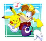 Rayman and Pikachu