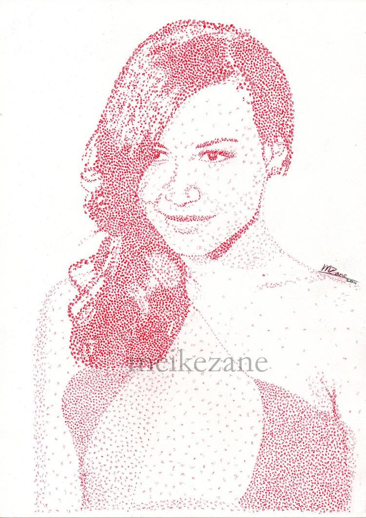 Naya Rivera - Pointillism by MeikeZane