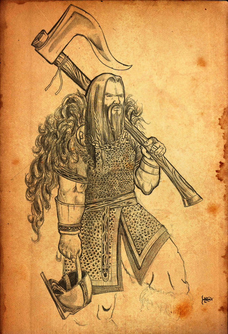 Viking warrior by haronseehagen on deviantart for Viking pencils