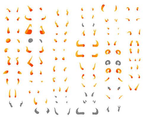 Homestuck Horns Sprite Sheet