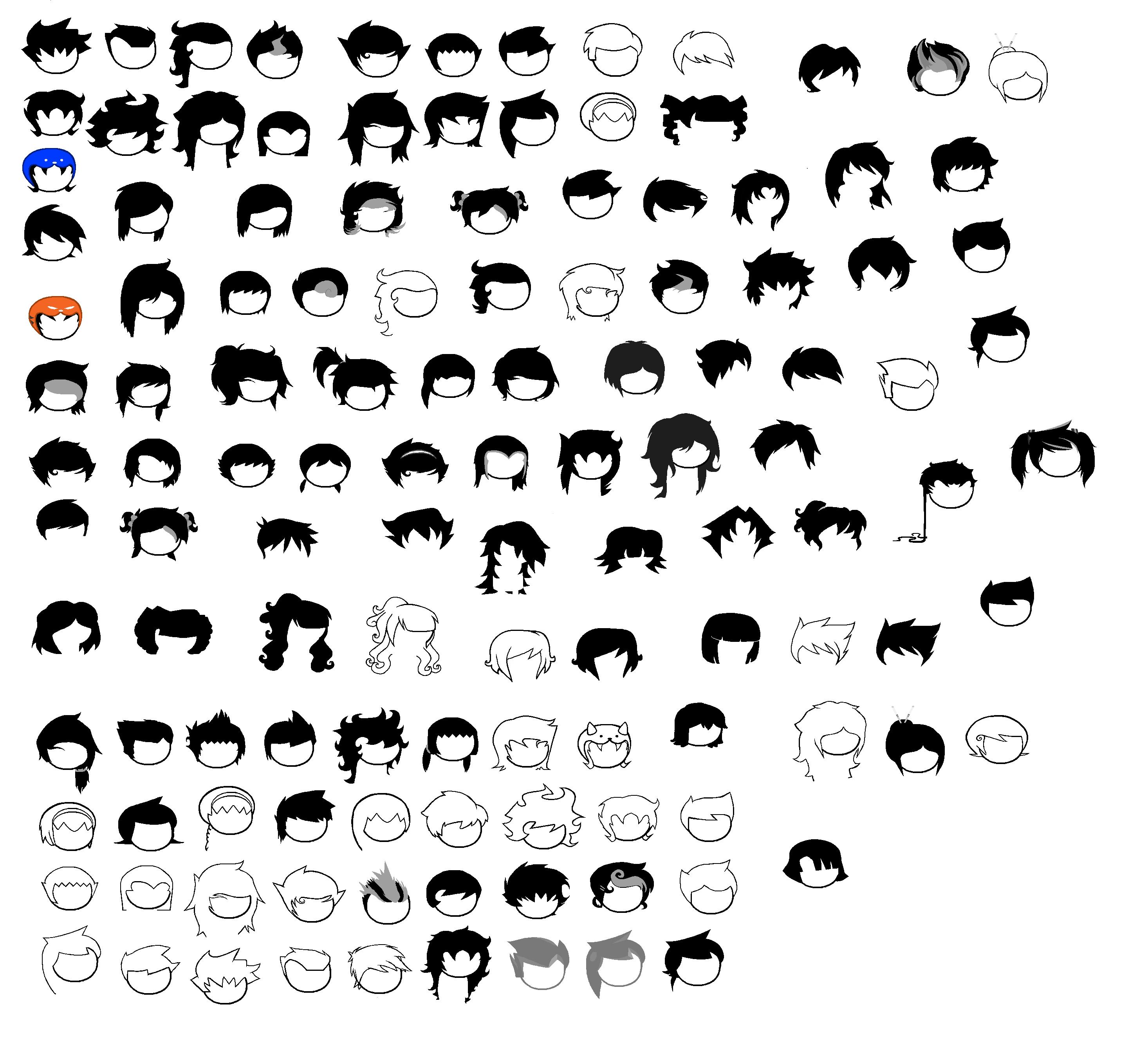 Homestuck Hair Sprite Sheet by blahjerry