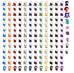 Homestuck God Tier Sprite Sheet Part 3 by blahjerry