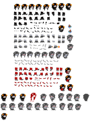 Aradia Sprite Sheet by blahjerry