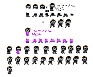 Equius Sprite Sheet by blahjerry