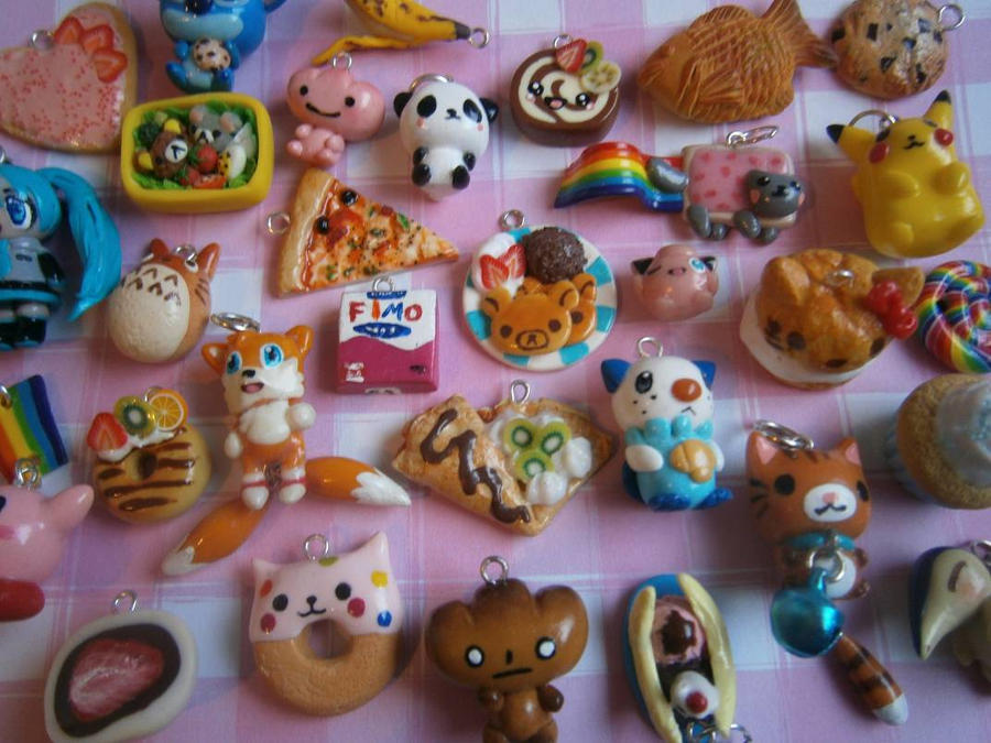 Kawaii Polymer Clay Charms by Fimochu