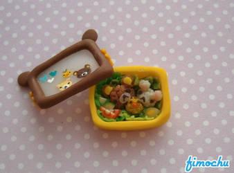 Miniature Rilakkuma Bento Box by Fimochu