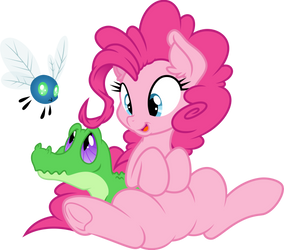 Pinkie and her little friends