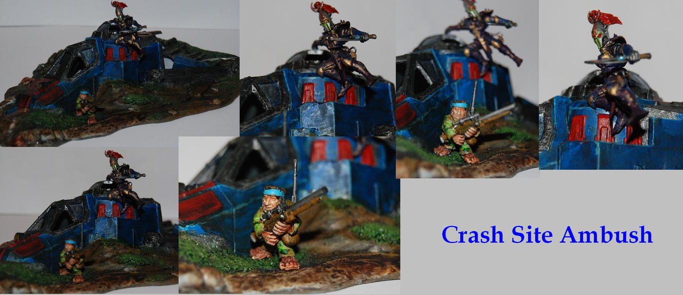 Crash Site Ambush Diorama by Czethros
