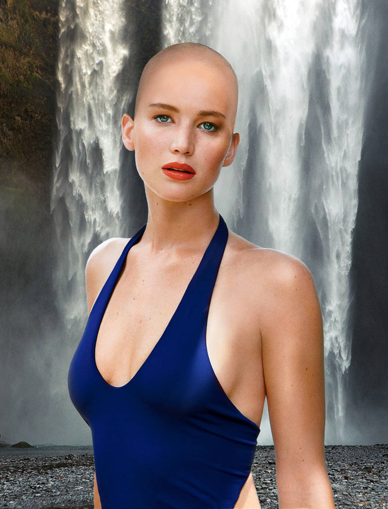 Bald Jennifer Lawrence by TheOtherCraftLord