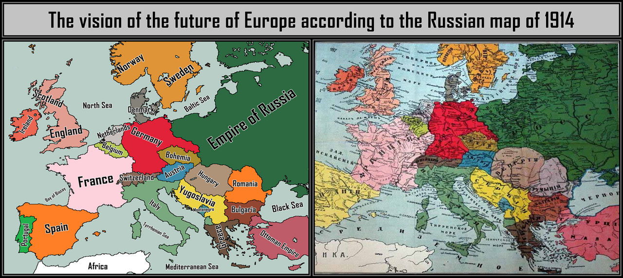 Russian Map From 1914 By Weles1996 On Deviantart