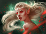 Blood Elf sketch by Inna-Vjuzhanina