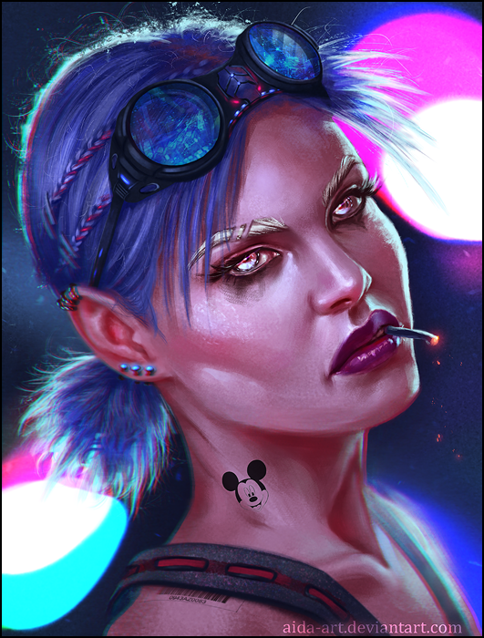 Cyber chick by Aida-Art