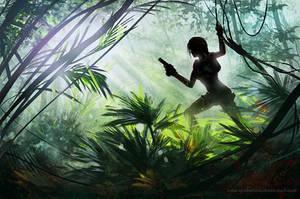 Tomb Raider sketch by Inna-Vjuzhanina