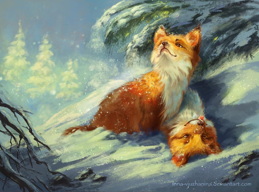 First Snow by Inna-Vjuzhanina