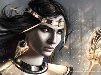 Isis, mother of Horus by Inna-Vjuzhanina