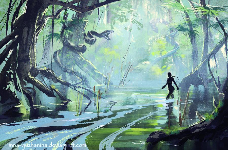Tomb Raider sketch 06 by Inna-Vjuzhanina