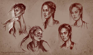 Lara sketches by Inna-Vjuzhanina