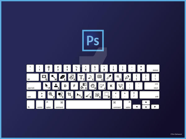 Photoshop Keyboard Shortcuts QWERTY by ensombrecer