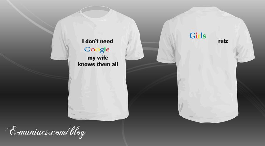 Google tshirt psd by Radyb