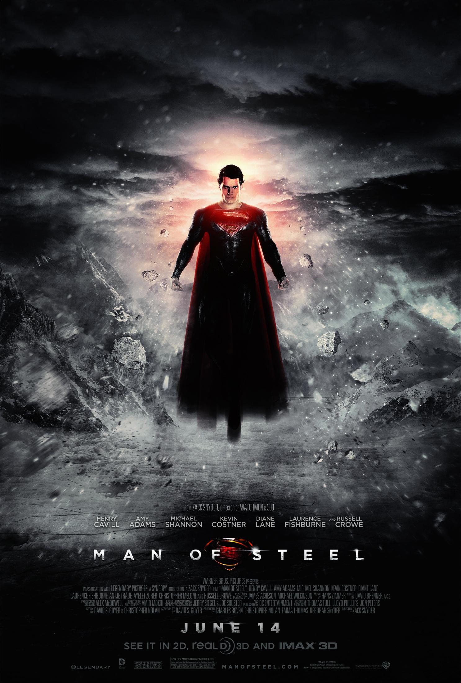 Man of Steel Poster 4 Grey by visuasys on DeviantArt