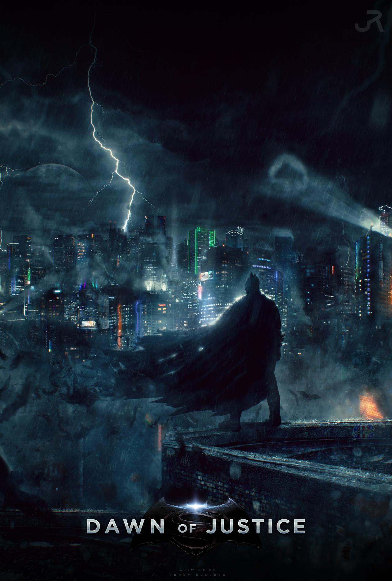 Batman V Superman Dawn Of Justice Poster 3 By Visuasys