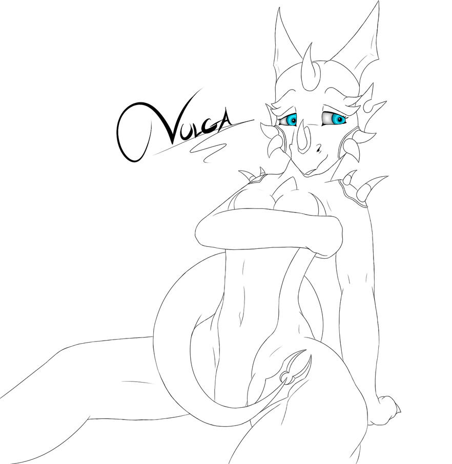 Young Vulga - Line Art by Kurtassclear