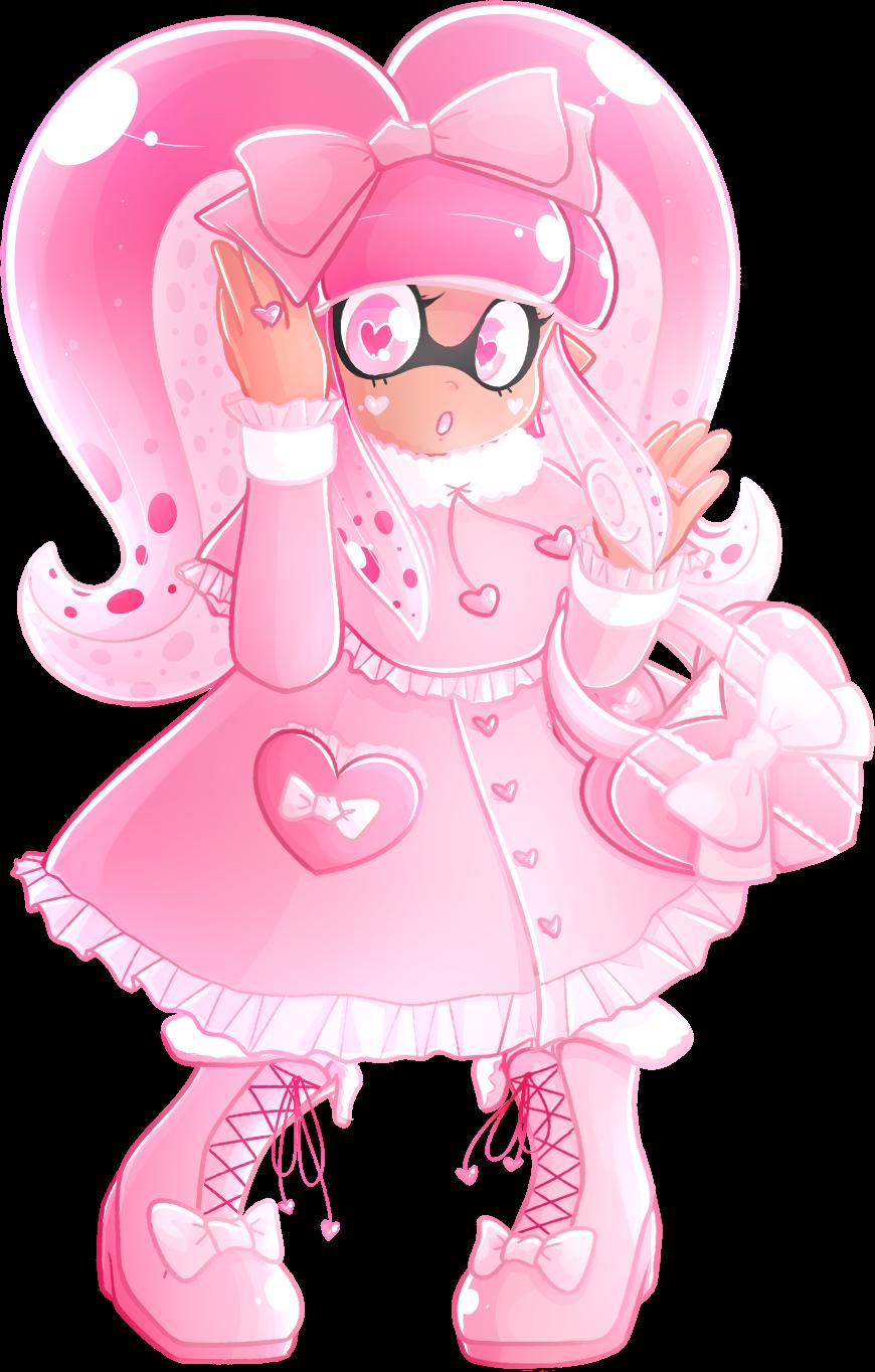 Pink Lolita Inkling by Ghiraham-Sandwich