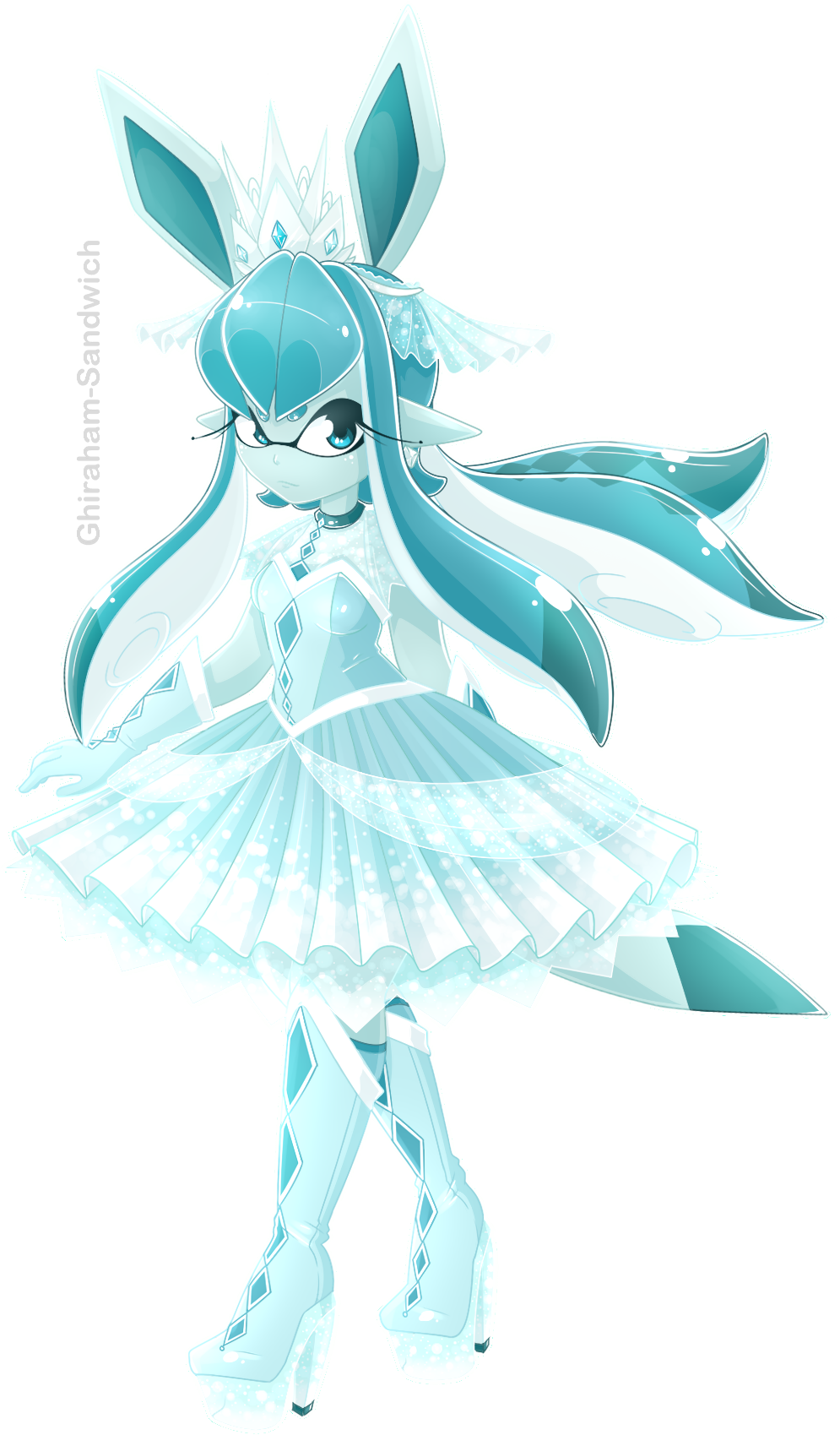 Glaceon Inkling by Ghiraham-Sandwich