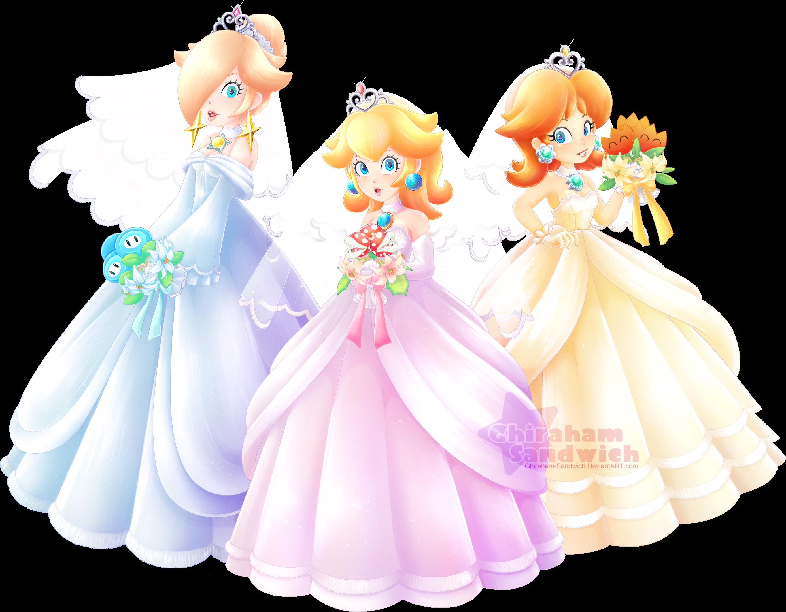 1 up girls super mario odyssey by ghiraham sandwich on for Princess peach wedding dress