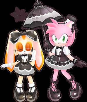 Amy Rose and Cream [Gothic Lolita]