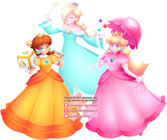 Peach - Daisy - Rosalina by Ghiraham-Sandwich