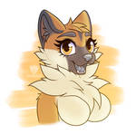 Bust for Cloudleaffy on TH by Quartzclawz