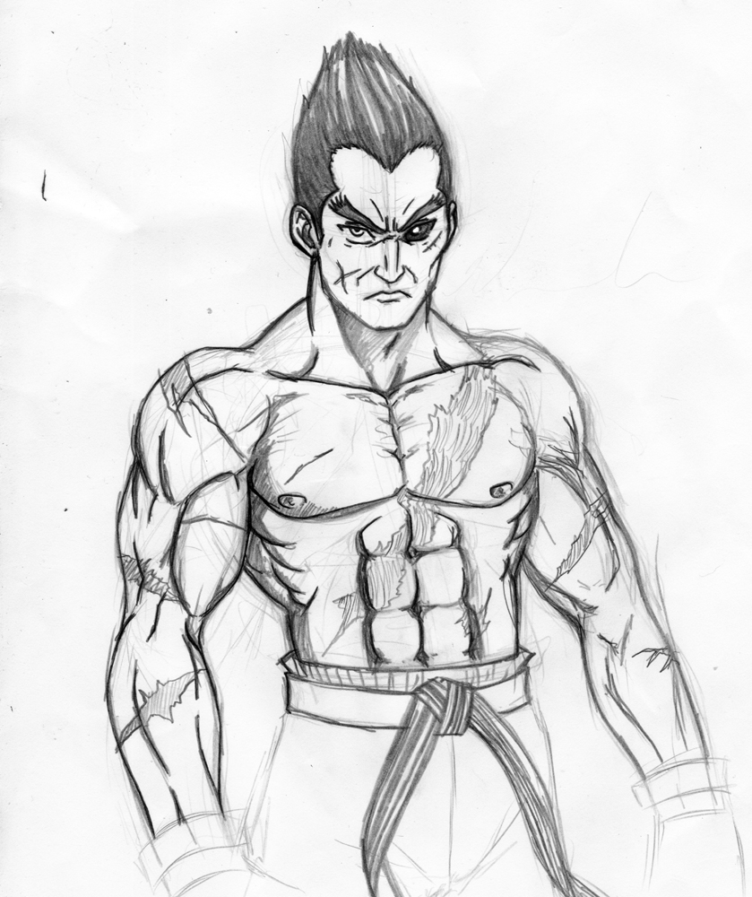 Kazuya Mishima Sketch by jinoku