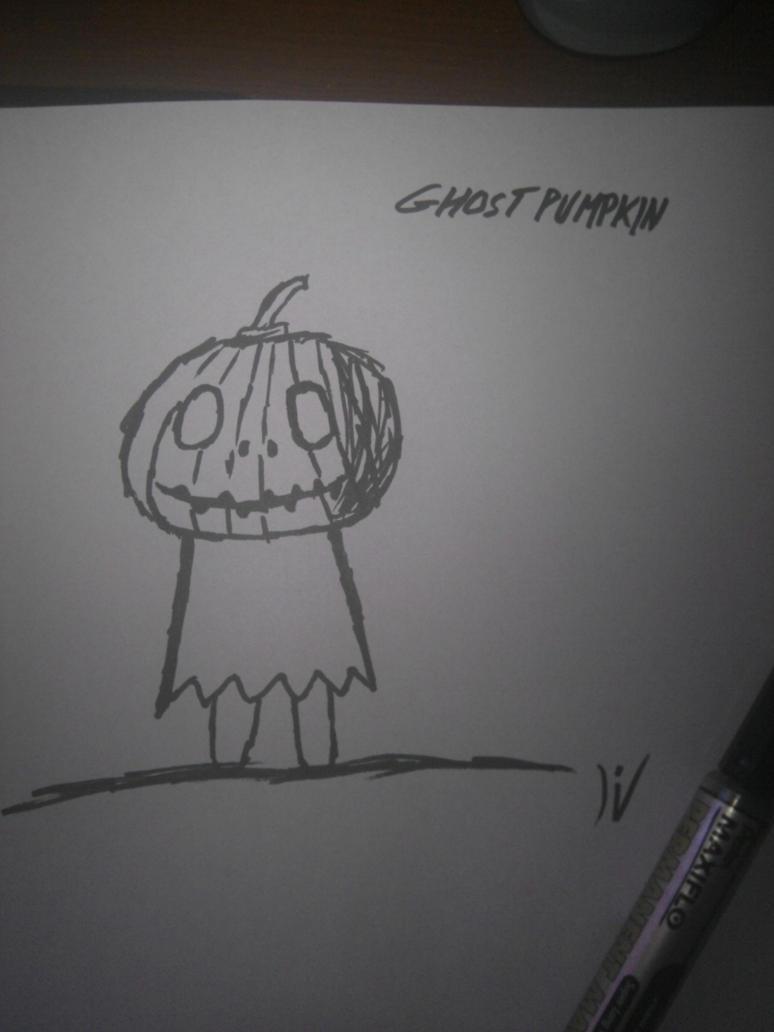 GhostPumkin - doodle by DreamerSK