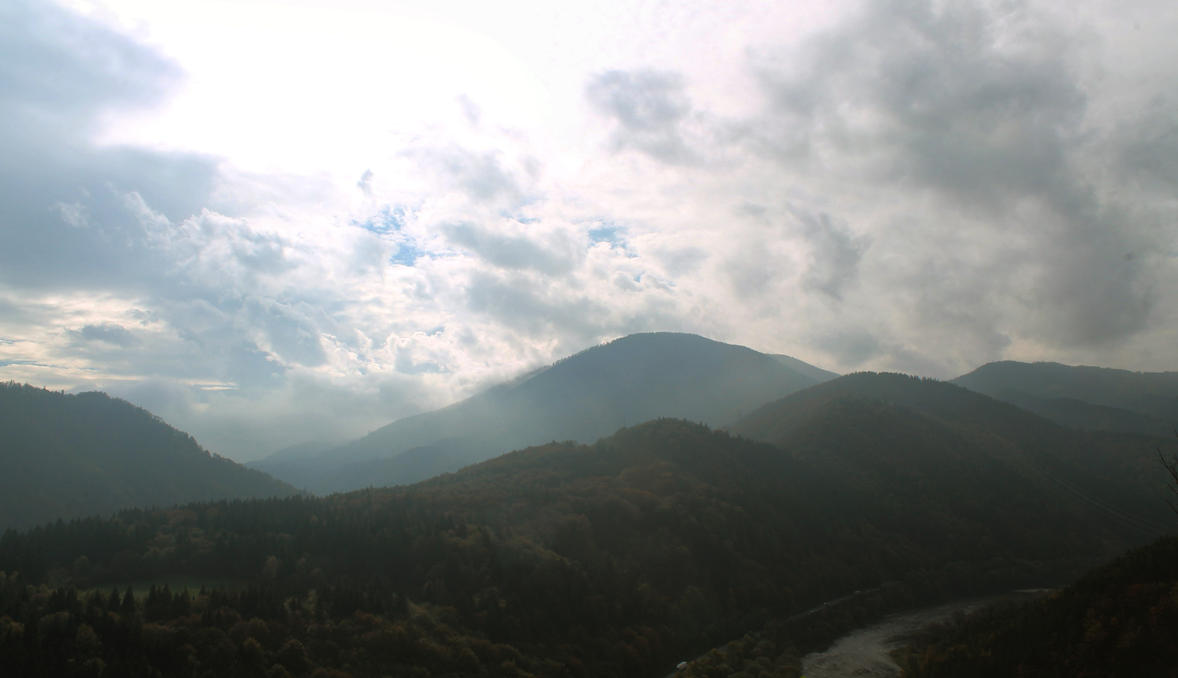 Panorama from Old Strecno by DreamerSK