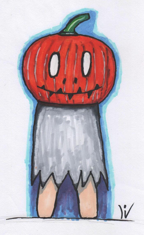 Ghost Pumkin in Color by DreamerSK