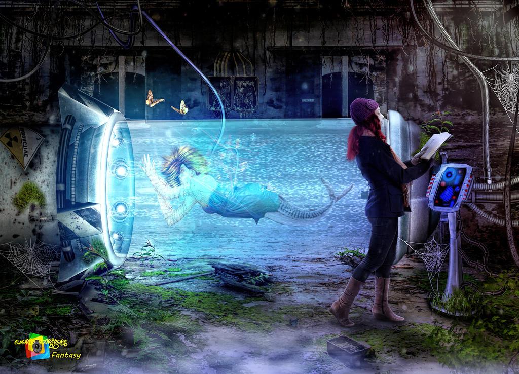 Mermaid in the tank by claudiofr31