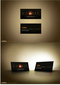 Karma Business Card Design