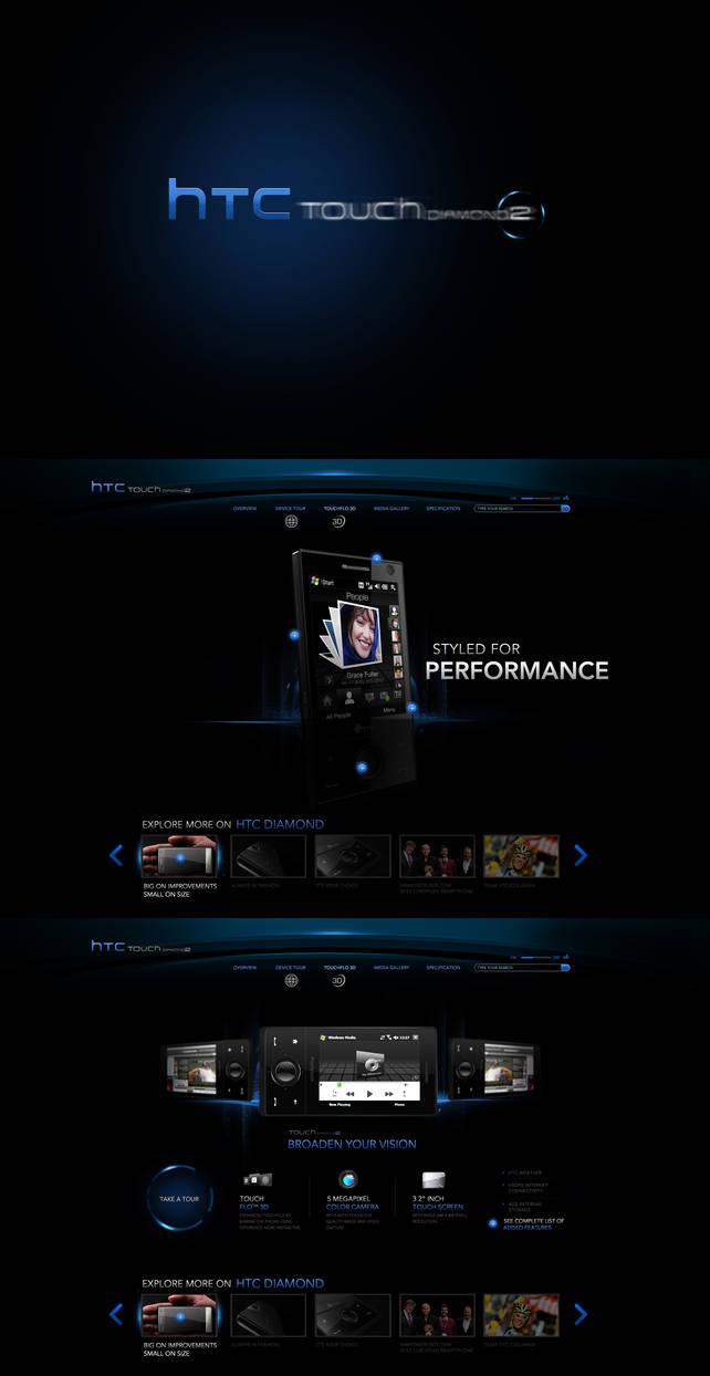 HTC diamond web design