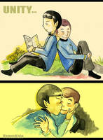 Spock and Dr. McCoy...unity by jeremys-girl