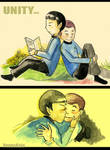 Spock and Dr. McCoy...unity