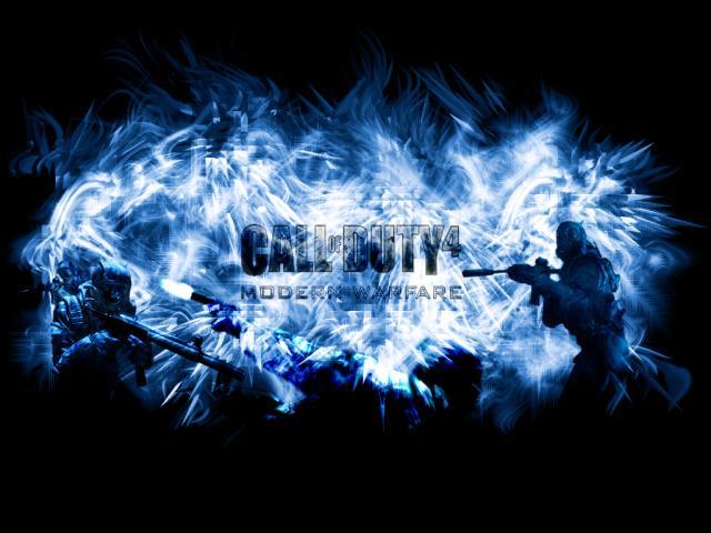 cod4 wallpaper. CoD4 Wallpaper - Blue by