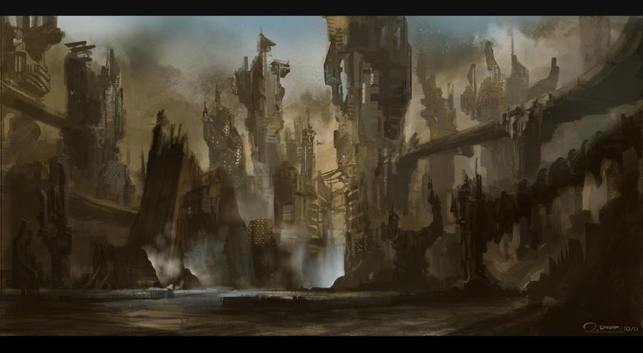 Alien cityscape by Ousmane-D