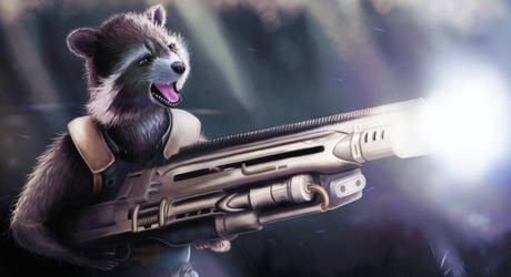 Rocket - Guardians of the galaxy fanart by bmspire