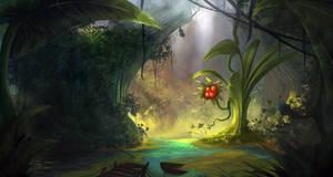 Cheerful swamp