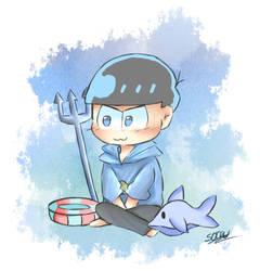 Karamatsu with his dolphin
